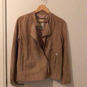 NWOT Abercrombie Tan Genuine Suede Jacket